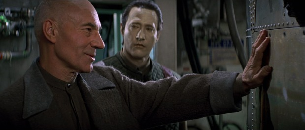 Data, Picard, and the Phoenix. Copyright Paramount Pictures 1996